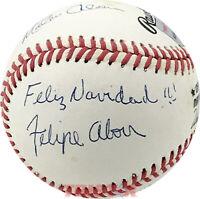 Felipe, Jesus & Matty Alou Signed NL Baseball Inscribed Feliz Navidad TRISTAR