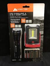 Ozark Trail Led Flashlight and 2-In-1 Camp Light Combo *NEW*