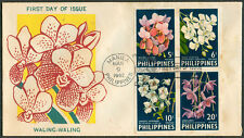 1962 PHILIPPINE ORCHIDS WALING-WALING First Day Cover