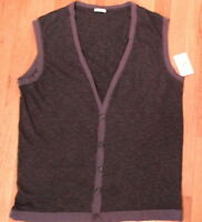 NWT Local Green, Light Sweater Vest Made in USA  Sz X-Large  Soft Material (498)