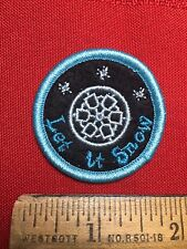 Fun SNOWFLAKE Patch LET IT SNOW Dazzle Your Jackets & Bags w/ Cheap Patches 76X2