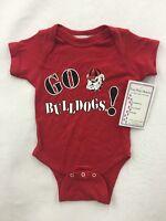 Georgia Bulldogs Two Feet Ahead NCAA Newborn Infant Lap Shoulder Creeper