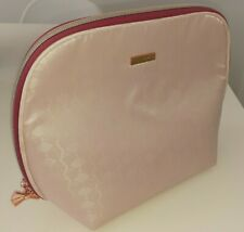 New TED BAKER Cosmetic/Toiletry Bag, Pastel Pink With Rose Gold Bow Zipper!