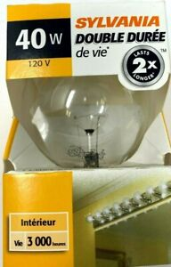 Sylvania Double Life Light Bulb 40W 120V 40G25/DL/RP