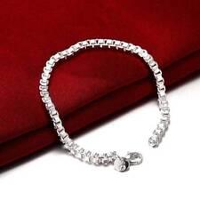 Fashion 925 Silver plated Jewelry Box Chain Bracelet For Women Men H172