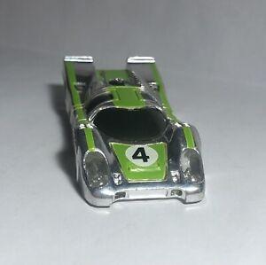 HTF Rare '77 Tyco Curve Hugger Porsche 917 in Chrome/Lime/White #4 - Body Only!