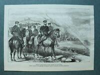 L1a) Holzstich Sliwniza Slivnitsa Bulgarien 1885 Prinz Alexander I. Krieg 26x18