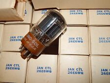 12 PIECES 26 VOLT 6L6 NOS NIB TUNGSOL TUBES 26E6WG AMP BUILDER 26E6 USA 1956 NEW