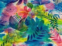 Fabric Serafina Watercolor on White Cotton QT 1/4 Yard 7869-X