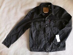 LEVI'S DENIM TRUCKER JACKET Size Men's XXL TYPE 3 BNWT Liquorice Black NEW