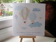 Sweet Shabby Handmade Personalised 1st Birthday Card Boy or Girl Son Daughter