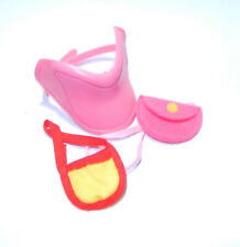 Vintage G1 My Little Pony ~*Pink Saddle Purse Set Red Yellow Pretty Ups CUTE!*~