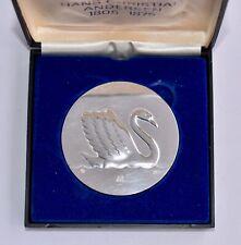 Boxed Georg Jensen Sterling Silver Medal Hans Christian Andersen - Ugly Duckling