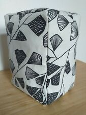 Black & White, Monochrome Fern Leaf Patterned Fabric Door Stop