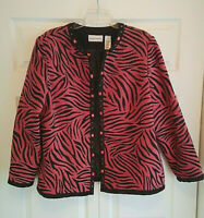 Alfred Dunner Women's Sz 18 Animal Print Lined Jacket Excell Pre-Owned Condition