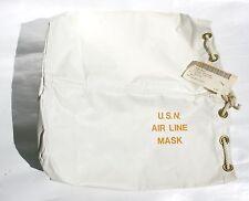 Vintage USN Air Line Mask Bag Jet Pilot Diving NAVY Ship Boat Military Surplus