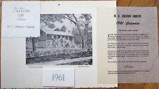 Russell M. Pierce/Newburyport Press 1961 Calendar: The Knight-Short House