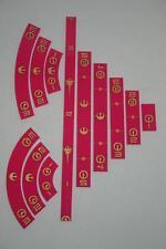 X-Wing Miniaturas regla de Accesorios Set Rosa Oscuro x 12 por COG o dos