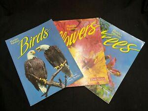 LOT OF 3 FLORIDA'S FABULOUS BOOKS BIRDS FLOWERS TREES SIGNED ELLEN ANNE EDDY