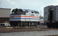 AMTRAK Railroad Train Locomotive 206 Original 1980 Photo Slide