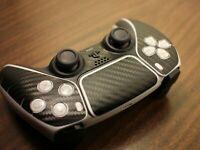 PS5 DualSense Controller Skin - Black Carbon Fiber