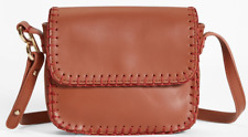 BROOKS BROTHERS Authentic Brown DOTTY Leather Women's Shoulder Bag w/ strap $298