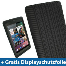 Black Silicone Tyre Skin for Google Nexus 7 Android Tablet 8GB 16GB Case Cover