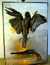 PEINTURE/TABLEAU    symbolisme     le CHOUCA      DELDA     H/panneau  50x70