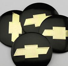 "4x 56mm 2.2"" Auto Car Wheel Center Hub Cap Emblem Badge Decal Sticker for Black"