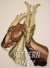 NEW ~  Intarsia wood pattern: DRAGON LOVE (Original)