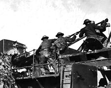 New 8x10 World War I Photo: 35th Coast Artillery Loading Mobile Railroad Gun