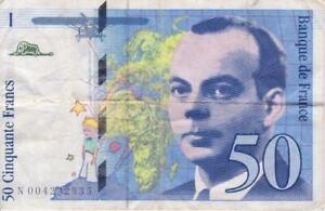BILLET SAINT EXUPERY 50 FRANCS 1992 SERIE N