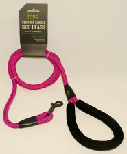 MOD - Pink & Purple - Thick Knitted Rope Comfort Handle DOG Pet LEASH 60 in *NEW