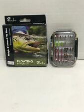 Outdoor Planet Assorted Fly Fishing Lure Double Side Waterproof Pocketed + Line