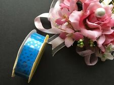 Handmade Cards Wedding Scrapbook Self Adhesive Blue Lace Sticker Tape RT106