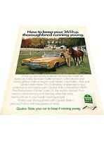 1972 Cadillac Eldorado Quaker State - Vintage Advertisement Print Car Ad J405