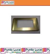 Placca cross 4 moduli alluminio anodizzato colore oro legrand 680574