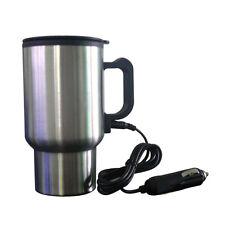 Portable 12V Tea Coffee Water Auto Electric Heater Silver Car Mug Heater Cup Hot