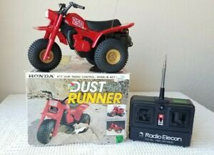 Honda ATC 250R Dust Runner Radio Elecon Control Off-Road Racer Toy with Box