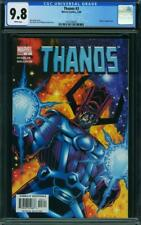 THANOS 1 2 3 CGC NM 9.8 WHITE PAGES GALACTUS COVER FANTASTIC FOUR SILVER SURFER