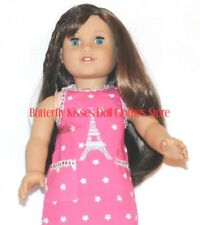 Pink Eiffel Tower Apron 18 in Doll Clothes Fits American Girl