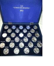 Coffret 10 euros des régions 2012 les 27 pièces, dans coffret de luxe en bois.