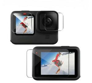3 x For GoPro Hero 10 Black Camera Tempered Glass Film Screen Protector Cover