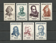 FRANCE 1957 .. 1132-1138 ... MNH ** Celebrities ...  Famous Peoples ...YT 10,50€