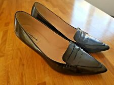 LK bennett shoes size 40 uk 7 black pointed toe kitten heel