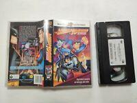 VHS BATMAN E SUPERMAN I DUE SUPEREROI CARTONI ANIMATI WARNER BROS VIDEOCASSETTA