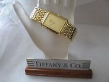 Tiffany & Co. 18K Gold Plated Portfolio Swiss Stainless Steel Wrist Watch Unisex