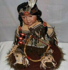 """Cathay Collection """"24601"""" Native American Boy 21 Inch Doll Iob"""