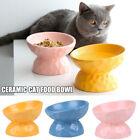 Non-slip Cat Bowls Ceramics Raised Slanted Pet Food Water Bowl Cats Feeder NEW