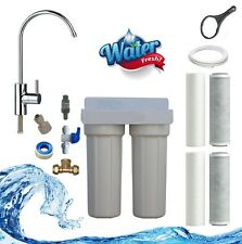 Premium Twin Undersink 2 Stage Water Filter System NSF 2 Years Filters Included